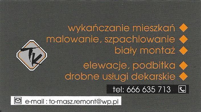 """To-Masz Remont"" Tomasz Karbownik"