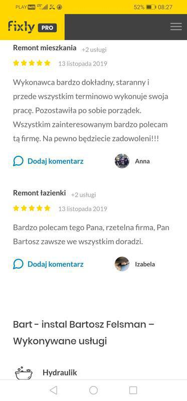 Bart-instal Bartosz Felsman