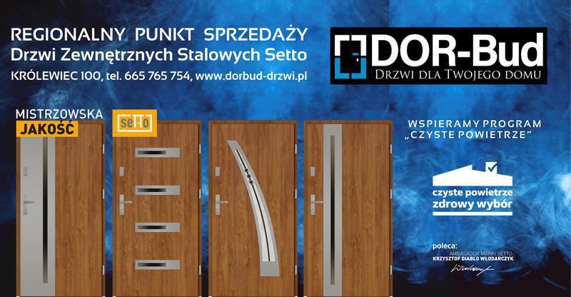 DOR-BUD Adrian Grabarczyk. Sprzedaż, montaż okien, drzwi i zamków.