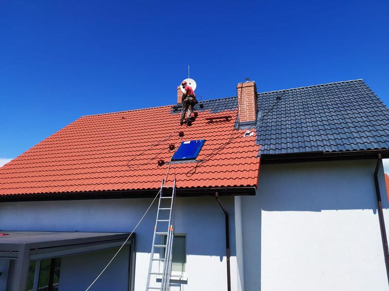 zmiana koloru dachu