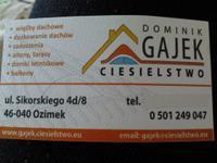 Logo firmy Dominika Gajek Ciesielstwo