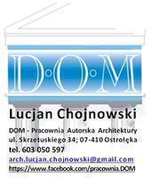 Logo firmy DOM-Pracownia Autorska Architektury-Lucjan Chojnowski