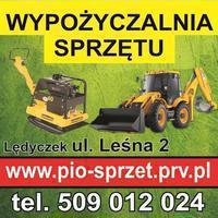 Logo firmy Wypożyczalnia wynajem sprzętu budowlanego, ogrodniczego, rusztowań, minikoparki PIO-SPRZET