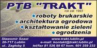 Logo firmy PTB TRAKT Kostka brukowa Lublin układanie brukarstwo roboty drogowe ziemne
