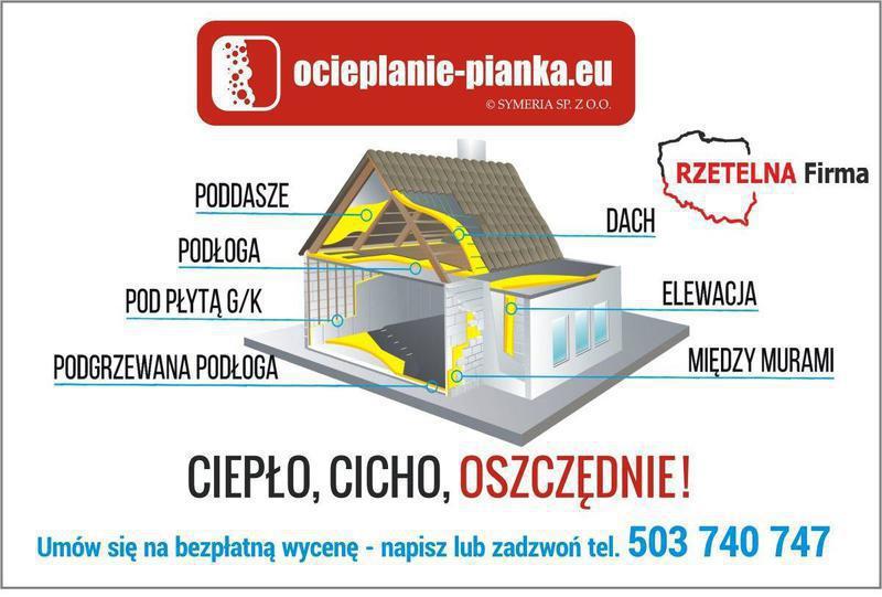 Ocieplanie pianką Białystok - Symeria