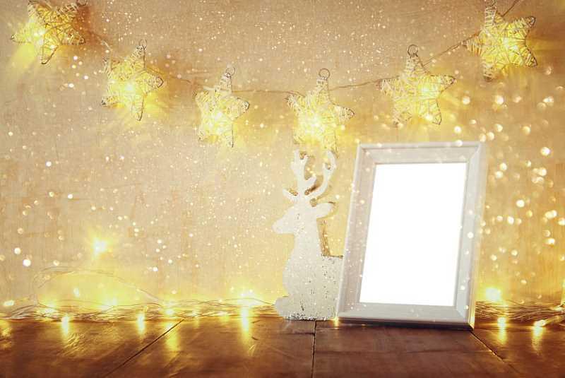 Kolejny przykład zastosowania lampek świątecznych w domu