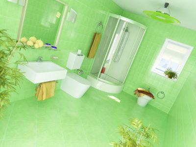 Łazienka z zieloną glazurą, zielona podłoga i zielone ściany - freedigitalphotos.net.jpg