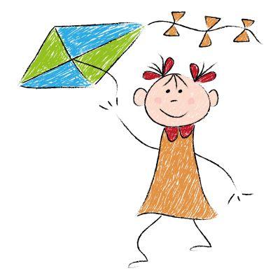 Rysunek dziecka z latawcem