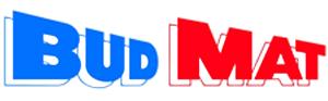 BUD MAT - logo dużej sieci handlującej materiałami budowlanymi