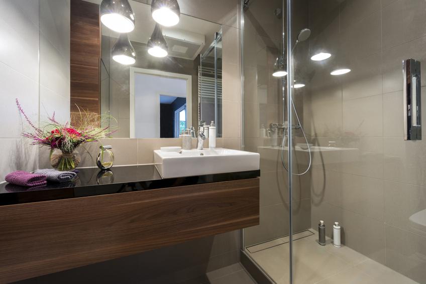 Łazienka wykończona w najwyższym standardzie