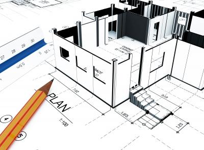 Rysunek projektowy domu pasywnego - source: FreeDigitalPhotos.net by supakitmod