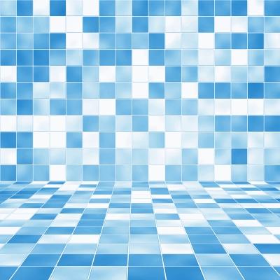Błękitna mozaika w łazience - source: FreeDigitalPhotos.net By 89studio