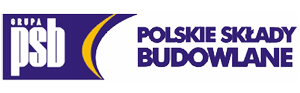 Logo sieci hurtowni z materiałami budowlanymi Polskie Składy Budowlane PSB