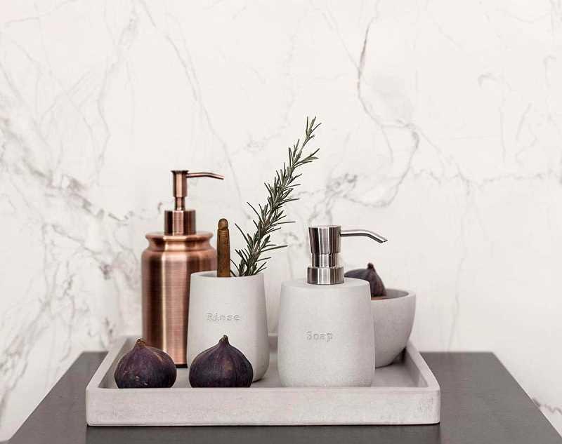Akcesoria łazienkowe z betonu