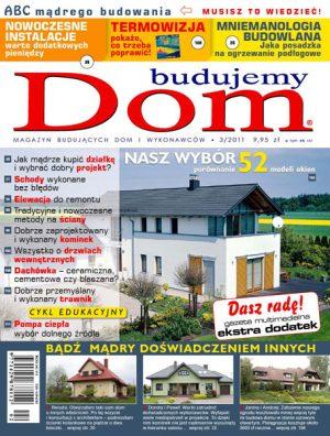 Budujemy dom - pierwsza strona czasopisma o tematyce budowlanej