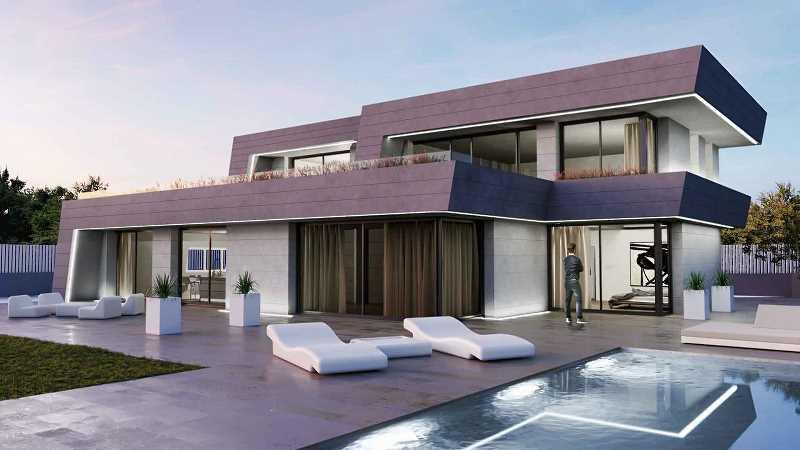 Projekt domu jednorodzinnego na wizualizacji