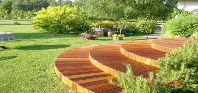 Drewniane tarasy DLH - ogrody przydomowe miejscem spotkań z naturą
