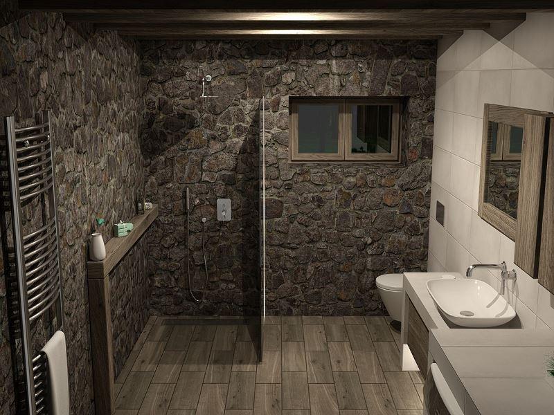Dom wykończony płytkami drewnopodobnymi