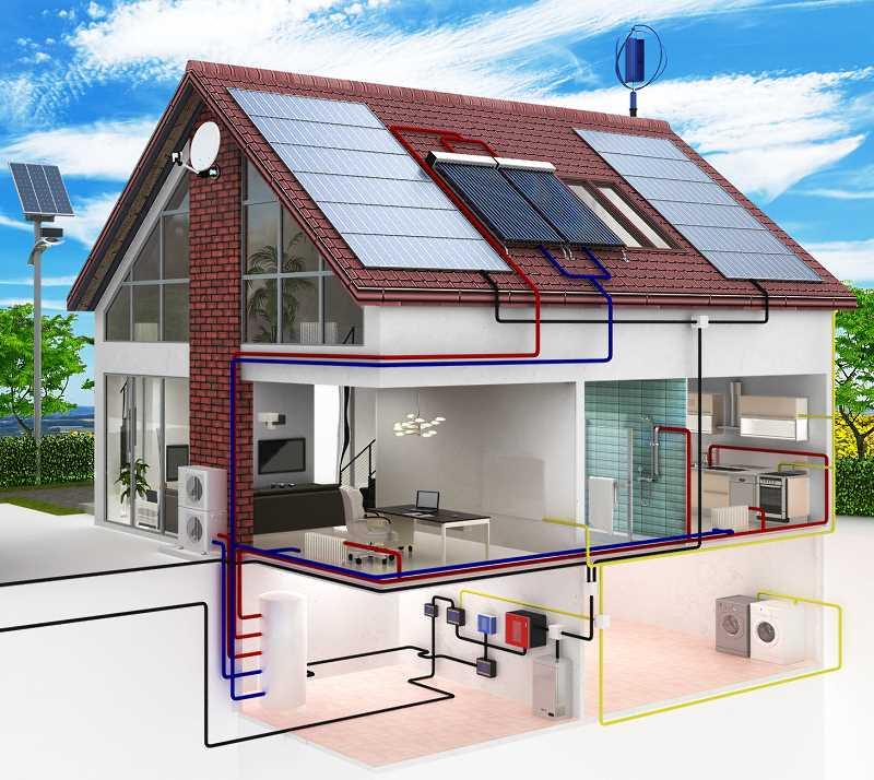 Przekrój domu energooszczędnego / pasywnego