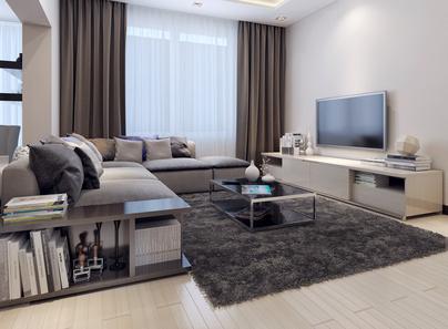 Salon w nowym mieszkaniu - wyposażony w śrendim standardzie