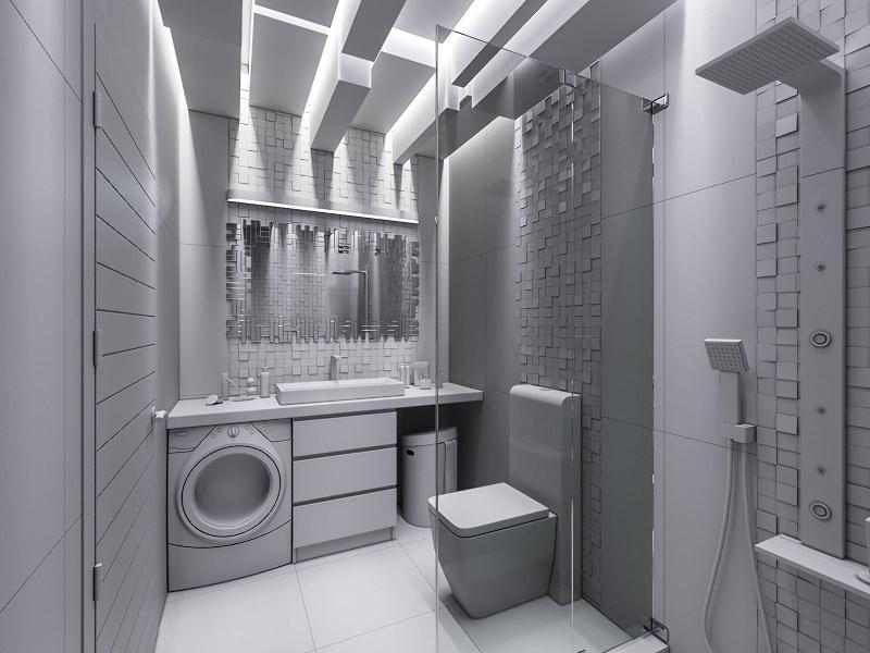 Łazienka w szarościach - każdy element jest szary