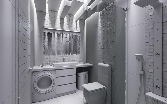 Łazienka w szarościach - inspirujące wnętrza