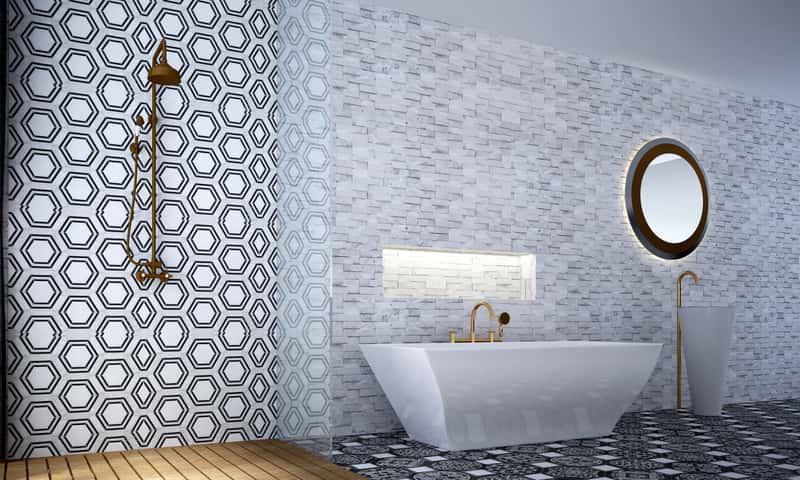 Pięknie zaaranżowana łazienka 3D