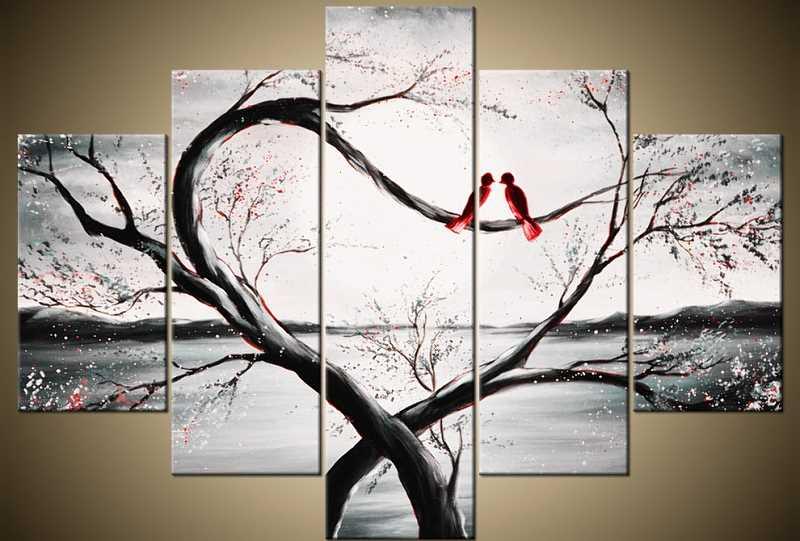 Obraz - pejzaż z drzewem