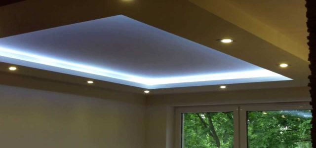 Pomysły na oświetlenie sufitu podwieszanego