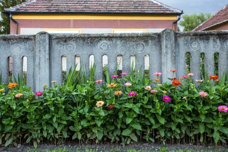 Płyty betonowe ogrodzeniowe jako płot