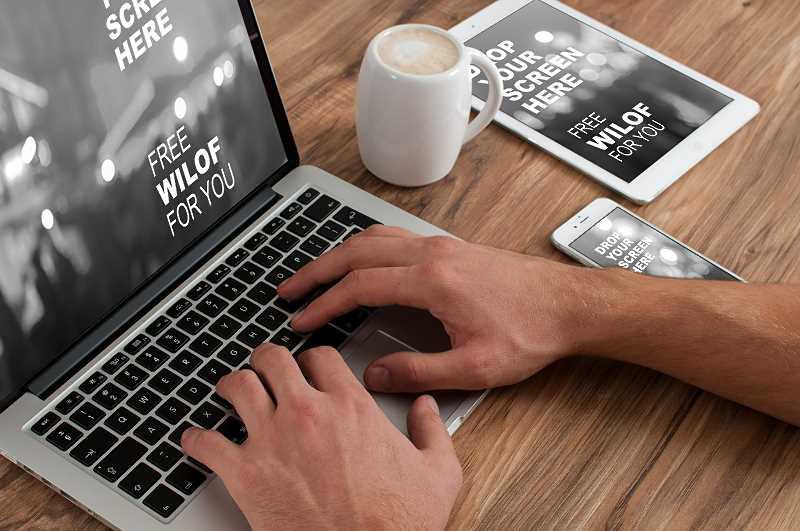 Praca przy komputerze - tworzenie strony www