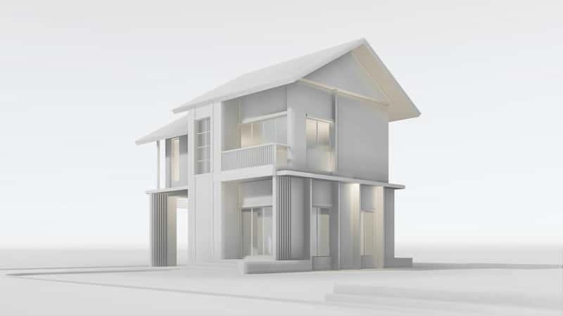 Prosty projekt domu piętrowego