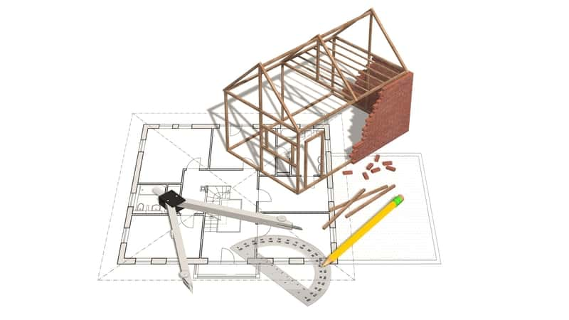 Projekt domów w fazie przygotowania