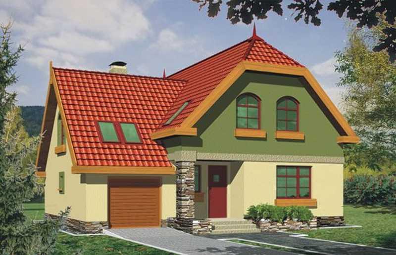 Projekty domów z garażem jendostanowiskowym