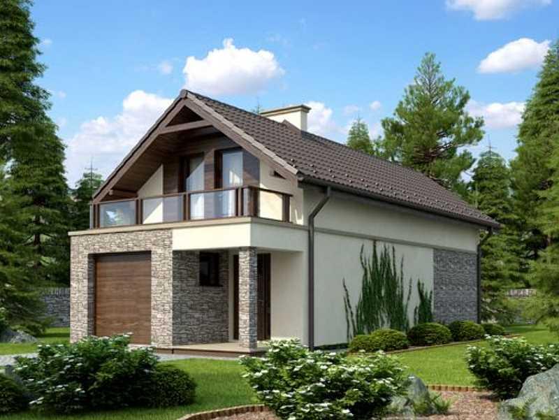 Projekty domów z garażem jednostanowiskowym