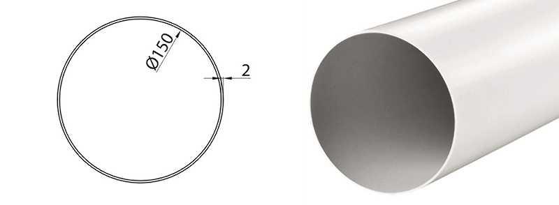 Okrągła rura do okapu