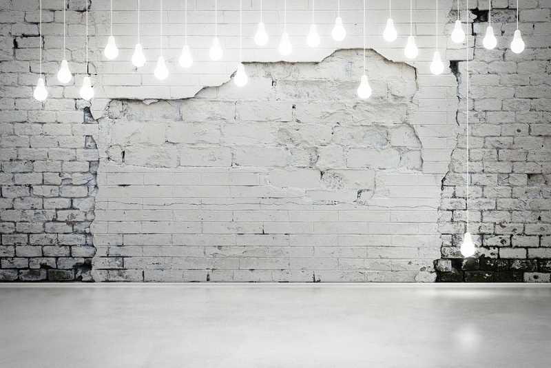 Ściany z białej cegły