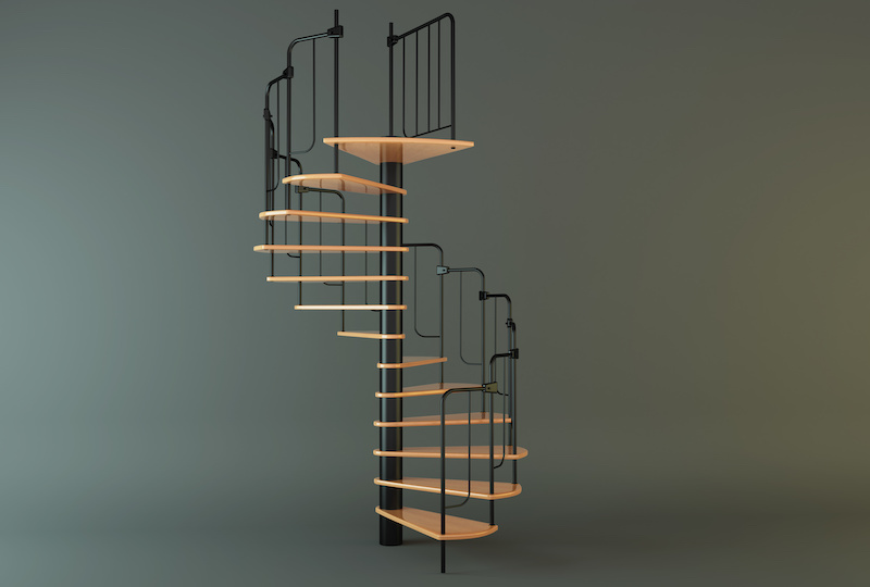 Винтовые лестницы в современных интерьерах