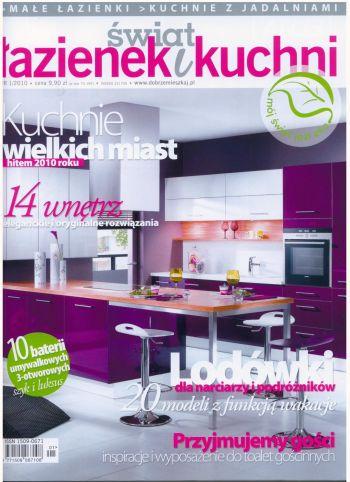 Okładka czasopisma Świat łazienek i kuchni