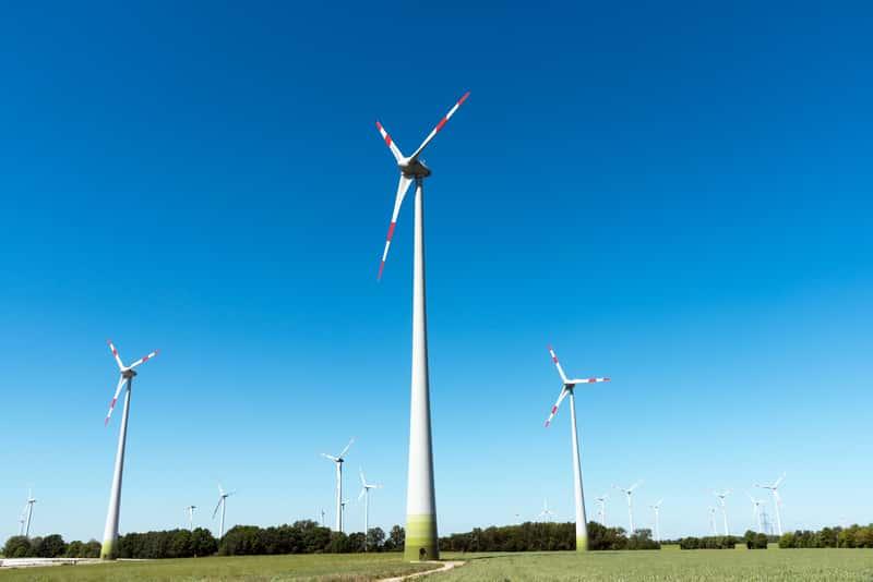 Wiatraki elektrowni wiatrowej