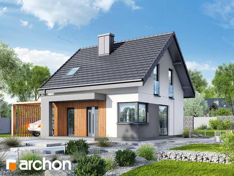 Projekt domu w borówkach