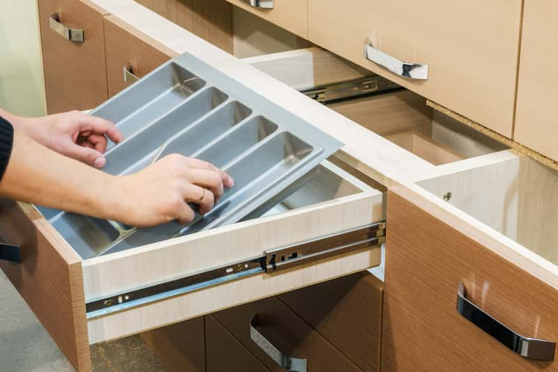 Wkładka do szuflady mebli kuchennych