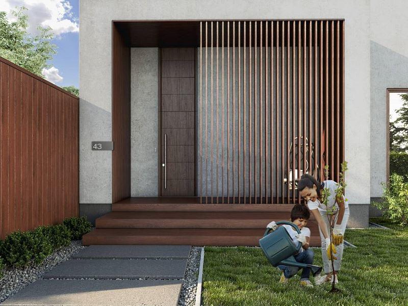 Inny przykład drzwi wejściowych
