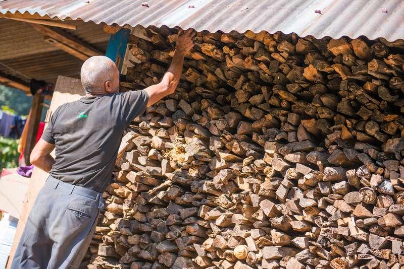 Wiata na drewno przy domu wypełniona drewnem - poradnik, jak ją zbudować, projekt, pomysły, rozwiązania, rodzaje