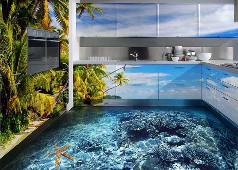 Podłogi 3D z żywicy epoksydowej toprawdziwy hit. Są bardzo modne, ale nie we wszystkich pomieszczeniach dobrze się sprawdzają.