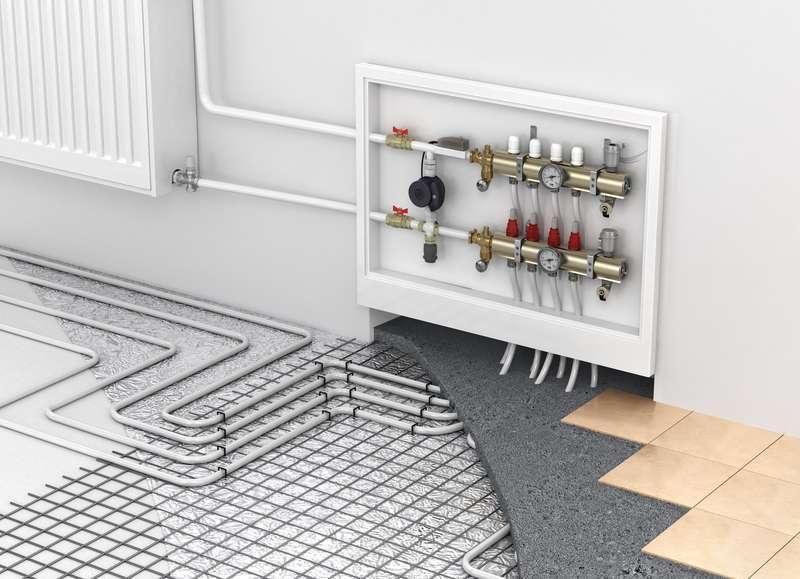 Prosty rozdzielacz ogrzewania podłogowego, czyli zawory, rury, najważniejsze elementy instalacj i zastosowanie krok po kroku