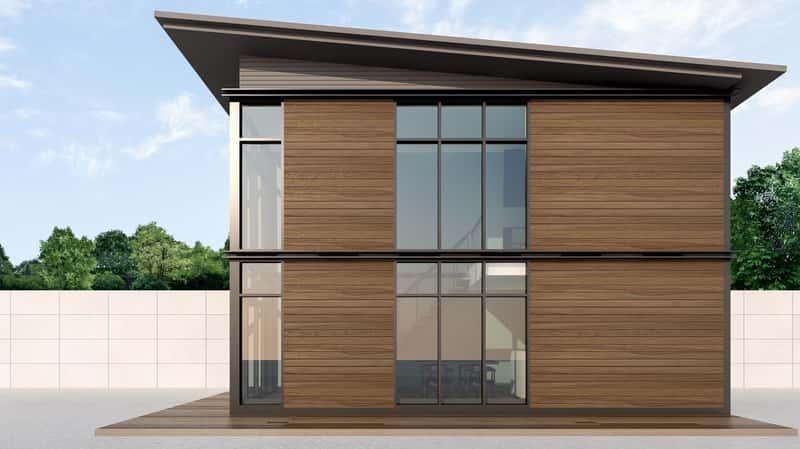 Dom modułowy całoroczny w nowoczesnym stylu, a także opis nowej metody budowania, zastosowanie i wady oraz zalety