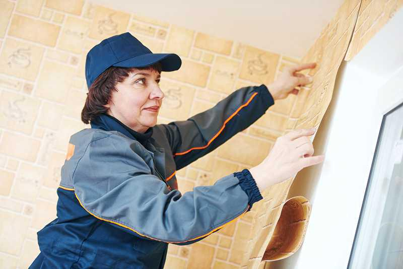 Tapetowanie ścian przez kobietę, a także koszty położenia tapety na ściany wersus koszty malowania i ceny materiałów