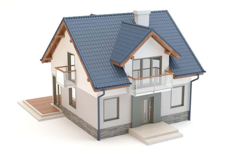 Mały dom jednorodzinny na modelu 3D, a także projekty małych domów krok po kroku, najważniejsze informacje