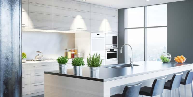 Meble kuchenne Black Red White nowoczesny wzór, a także porady, wybór, najlepsze modele i zestawy oraz ceny